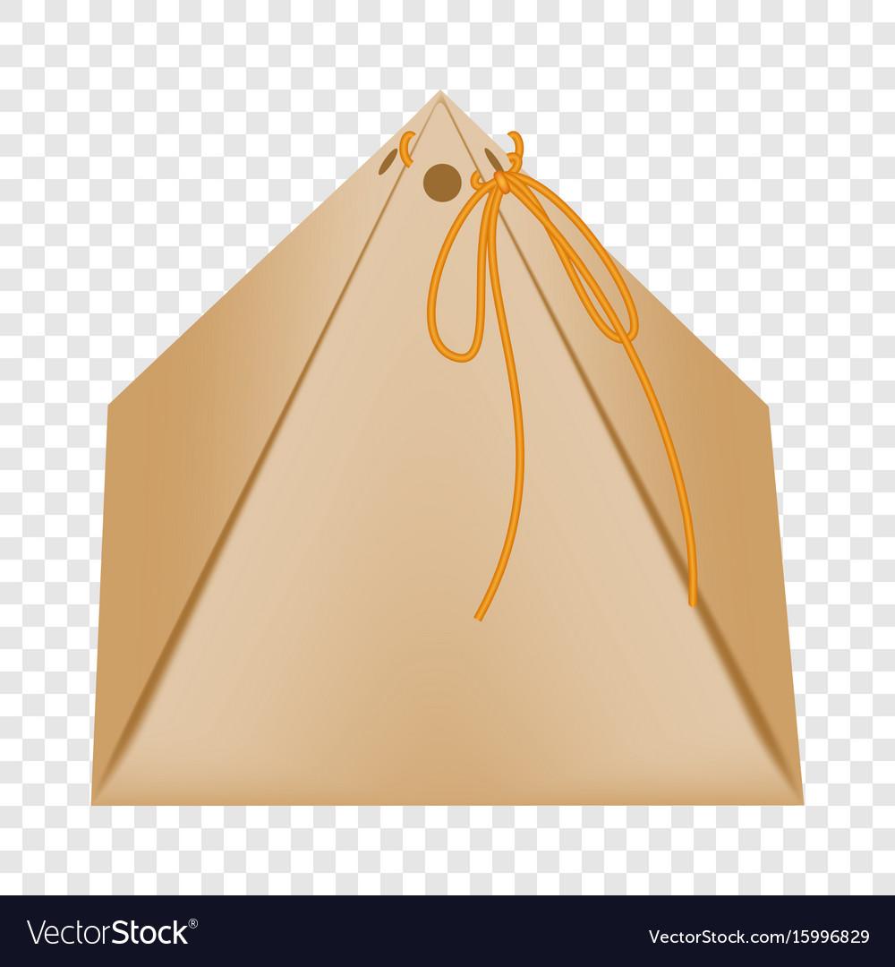 Cardboard Triangular Packaging Box Icon Flat Style