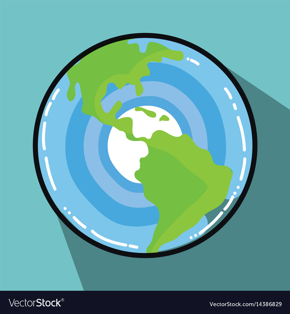 Earth planet galactic exploration vector image