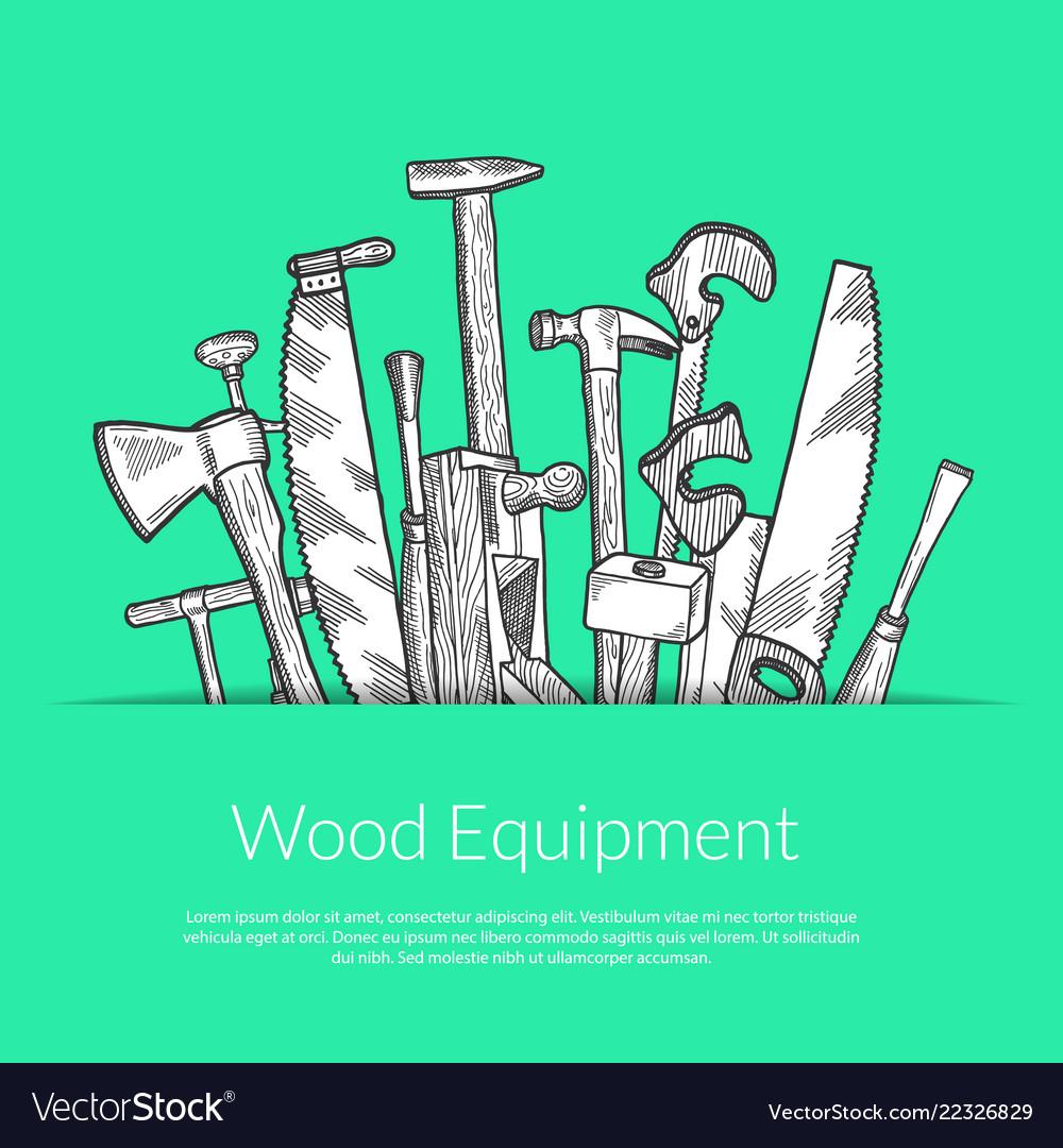 Hand drawn woodwork elements