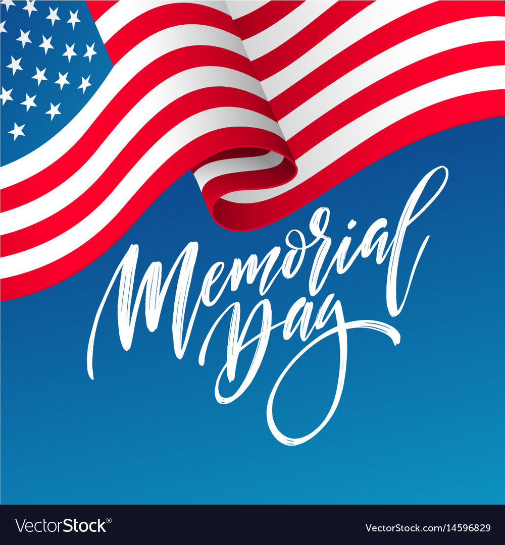 Happy memorial day card national american holiday