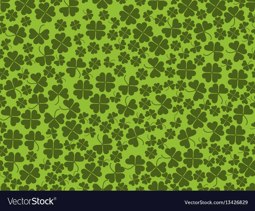 Happy st patricks clover seamless pattern