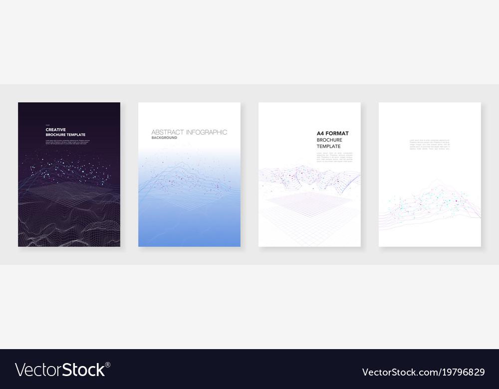 Minimal Brochure Templates Big Data Visualization Vector Image