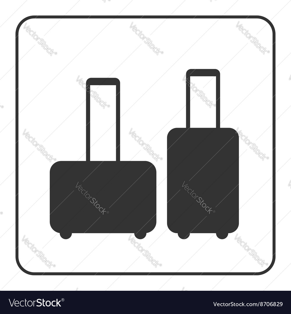 Suitcase icons baggage