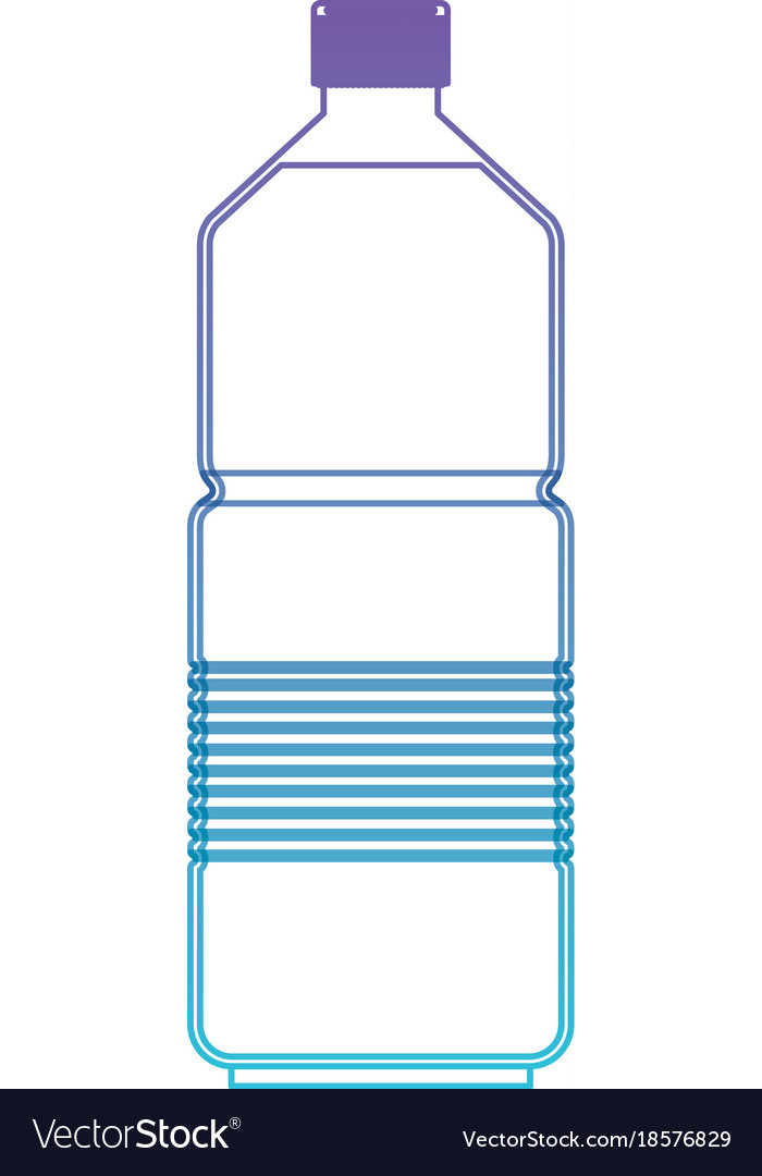 Water bottle icon in degraded purple to blue color vector image