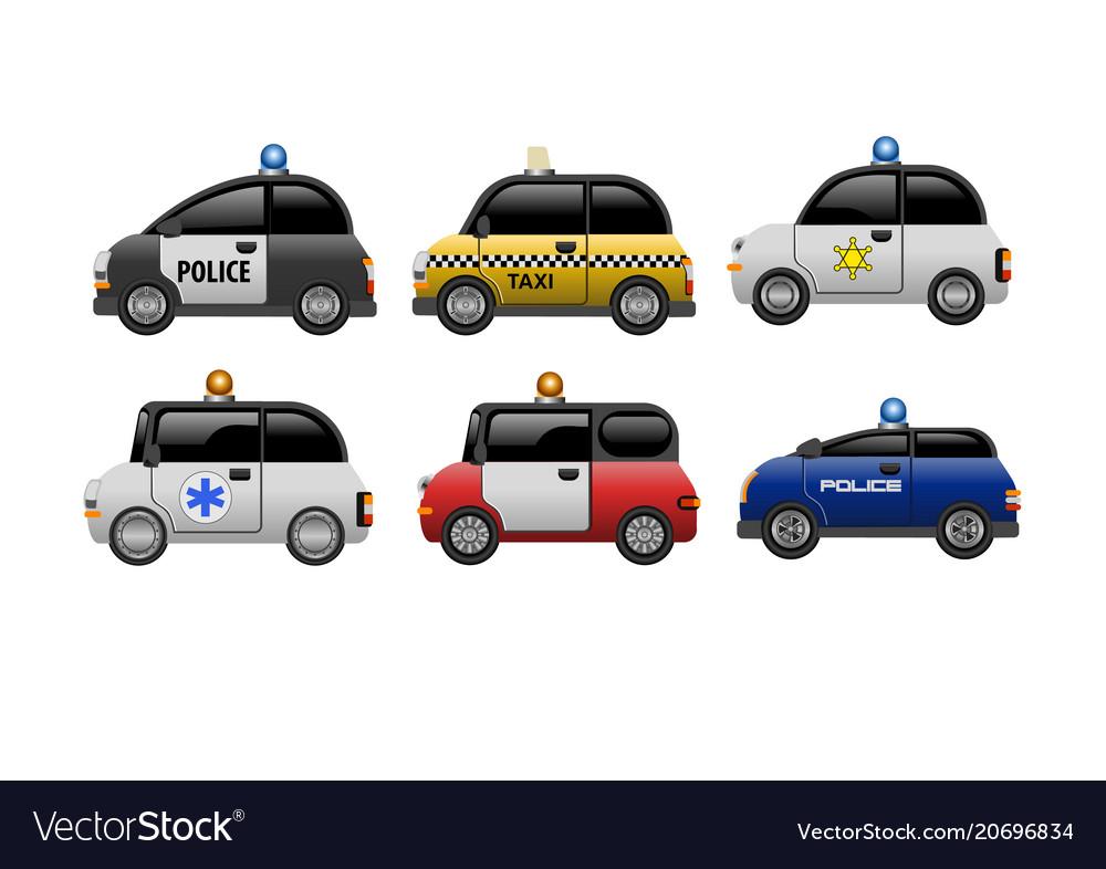A set public service electric minicars