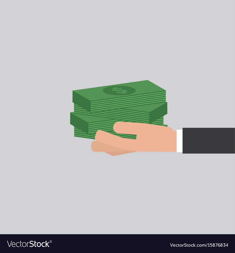Banknotes in hand businessman
