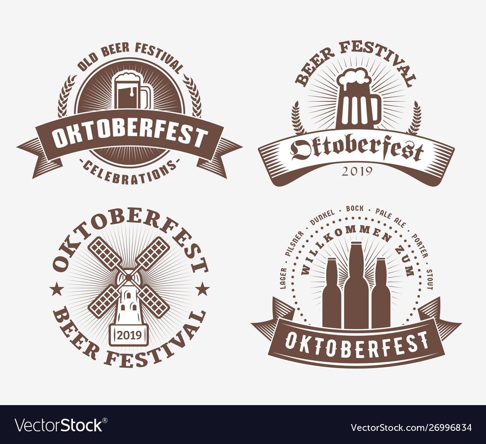 Beer festival oktoberfest celebrations set of