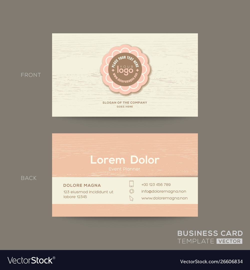 Business card for gift shop coffee or bakery shop