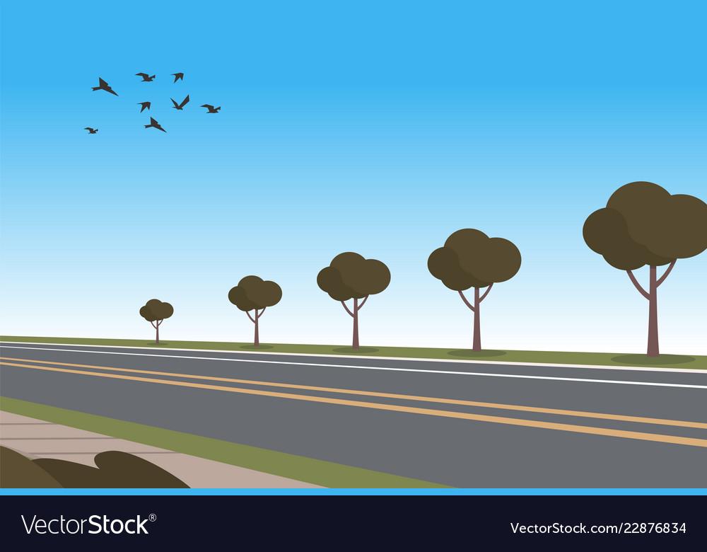 Cartoon automobile highway
