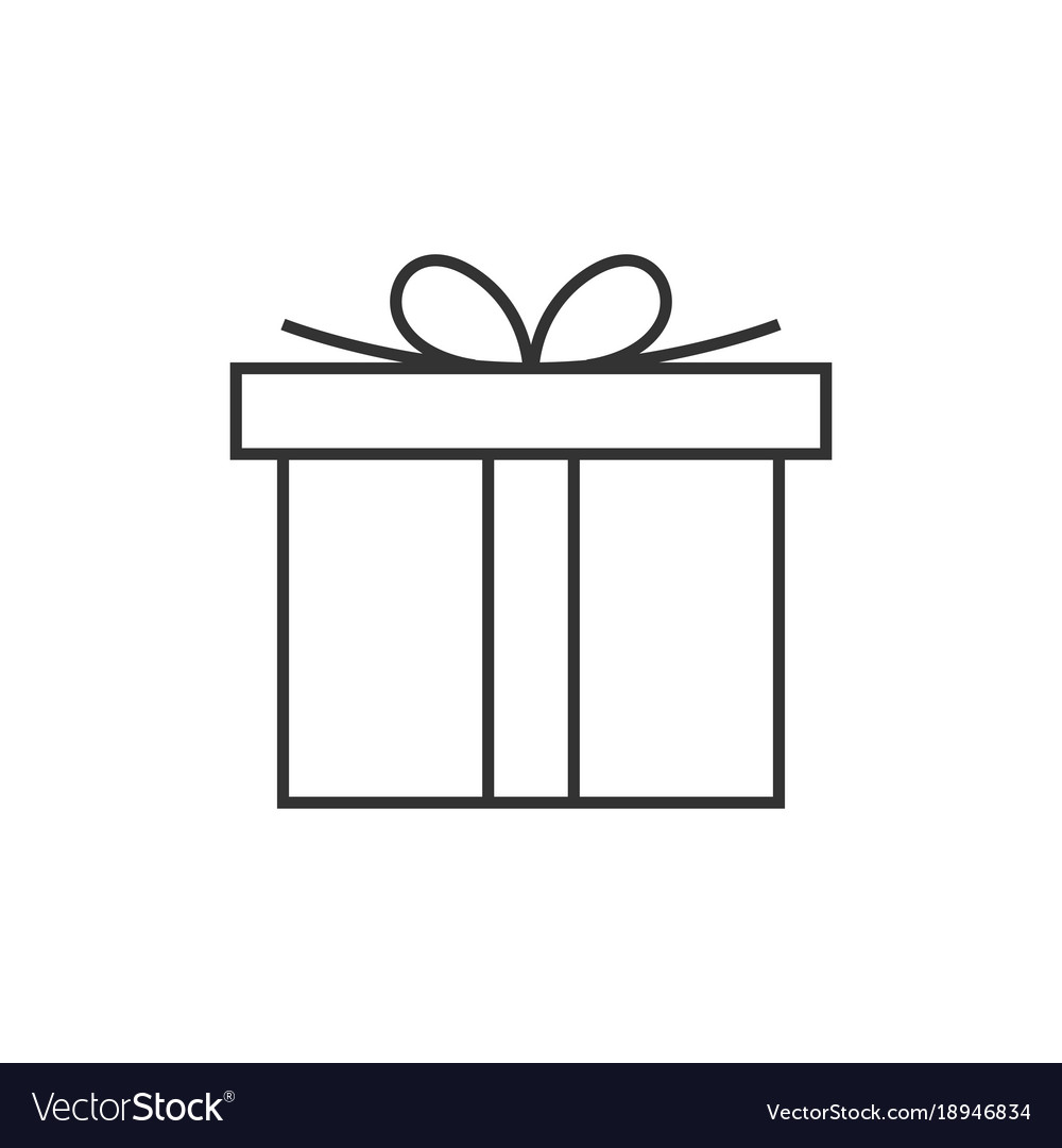 Gift box line icon