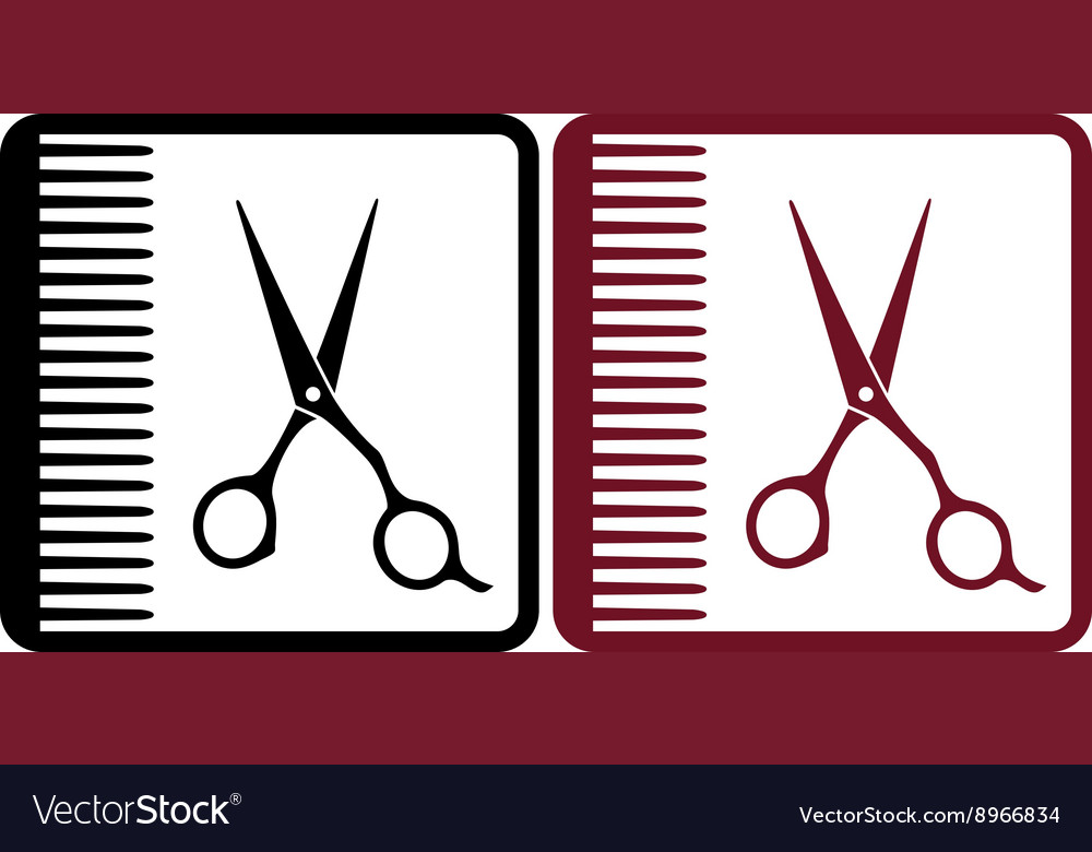 Hairdresser signs vector image