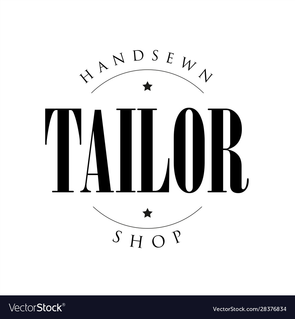 Handsews tailor shop sign logo