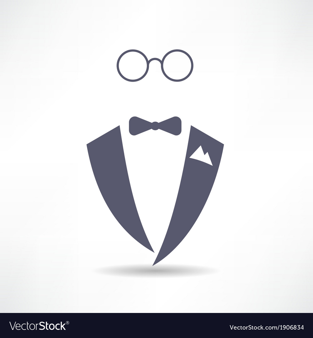 Man in tuxedo icon vector image
