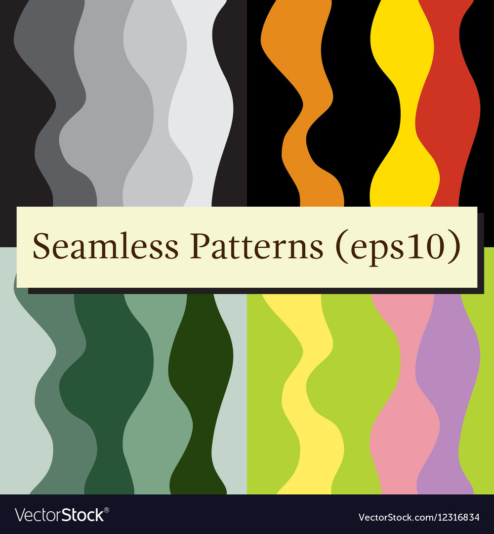 Seamless abstract vertical lines stripes patterns