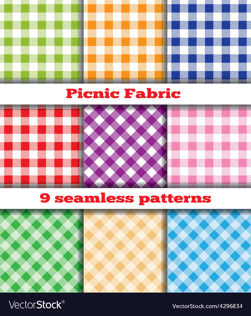 Set of tissue samples for a picnic vector image