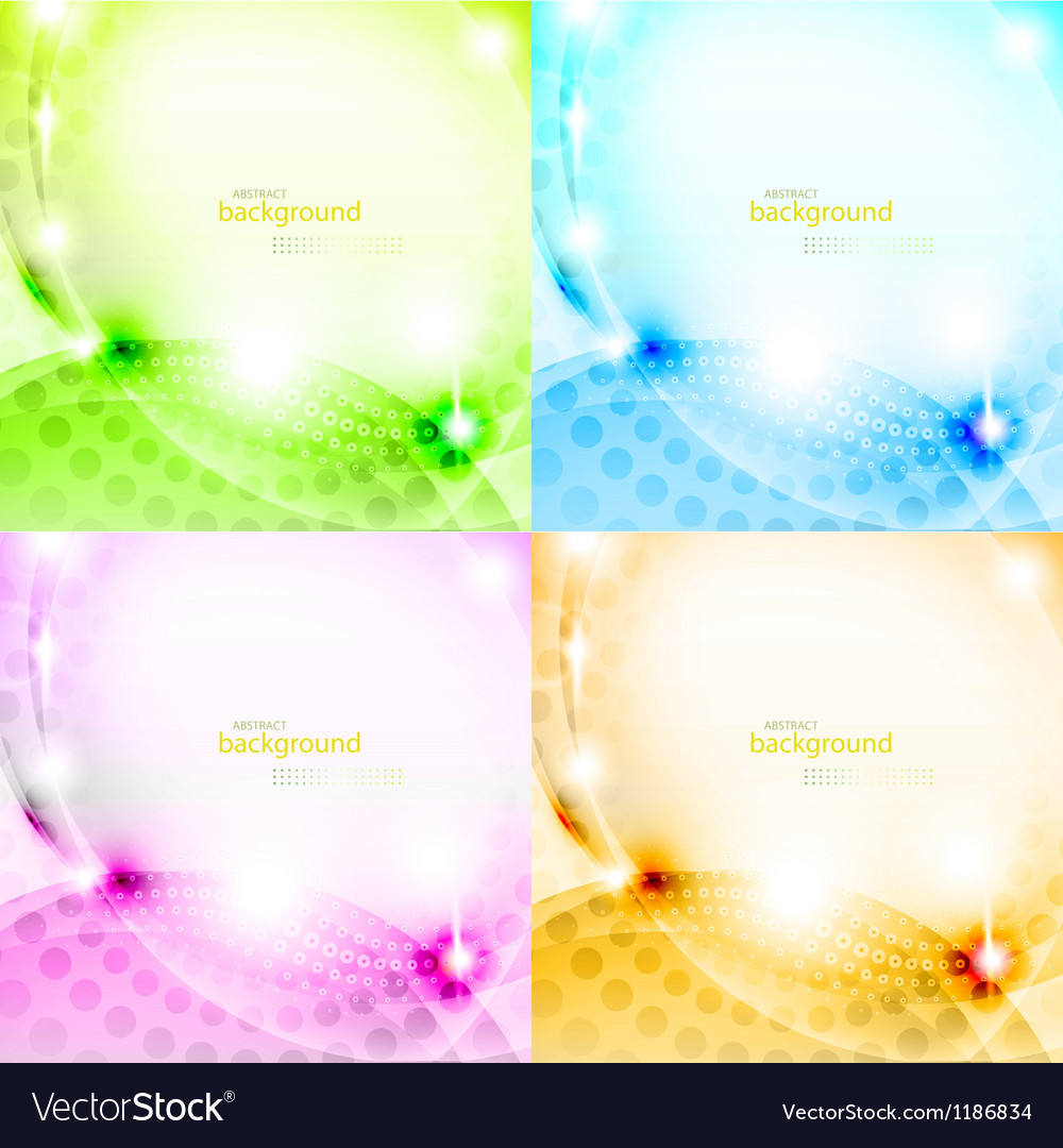 Shiny abstract background set