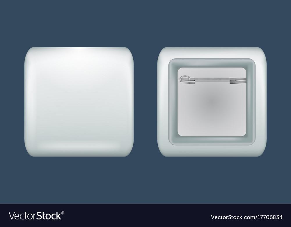Square badge mockup realistic style