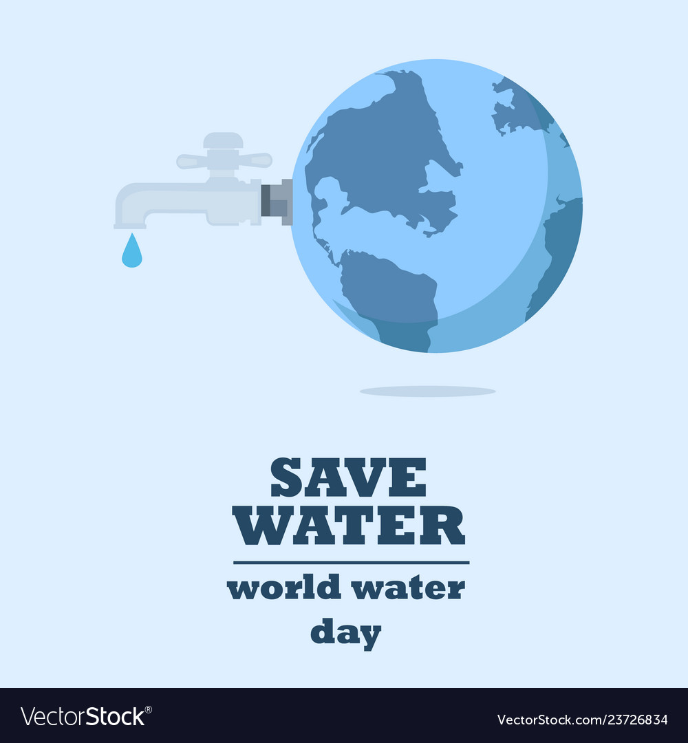 Water world day with faucet or water tap with a