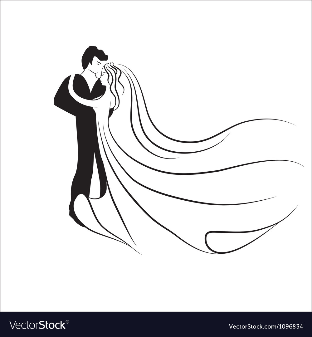 Wedding logotype Man and woman