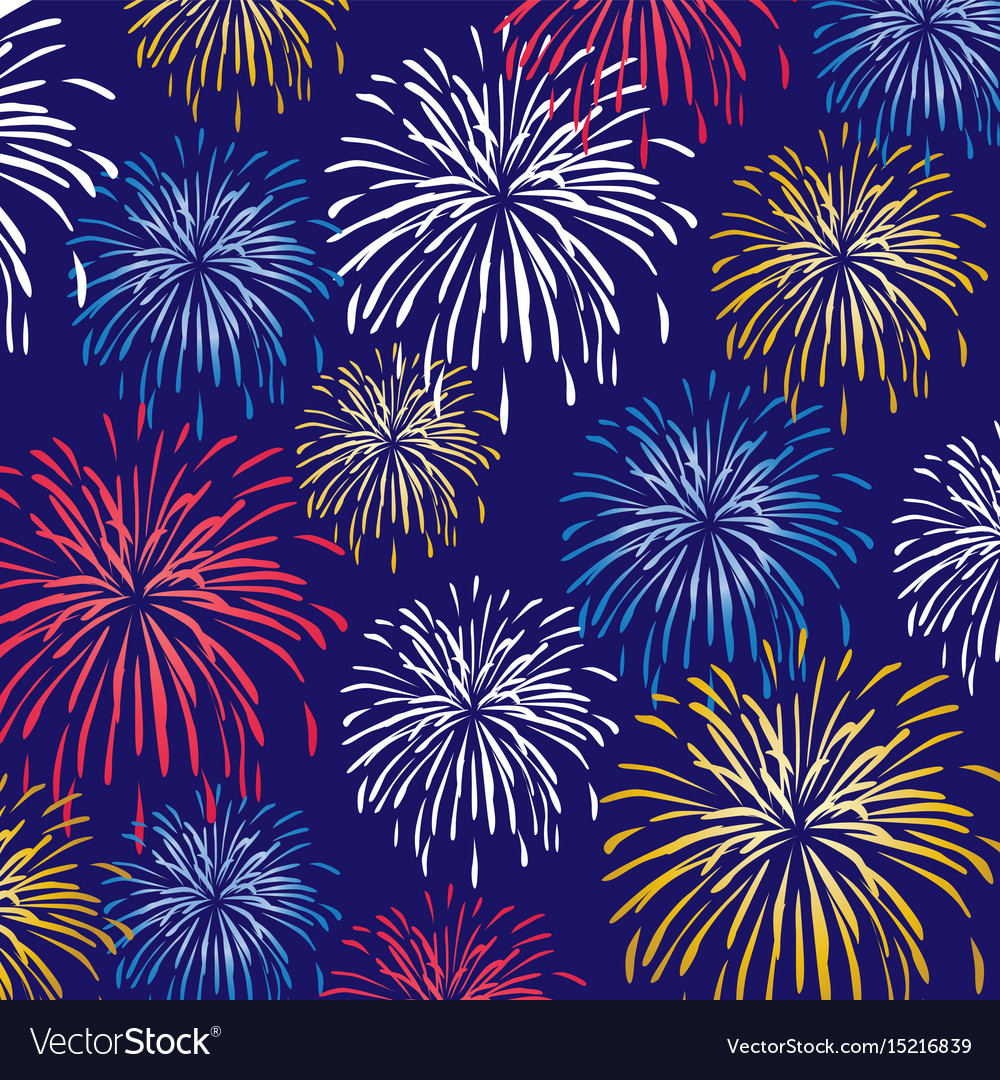 fireworks background pattern royalty free vector image