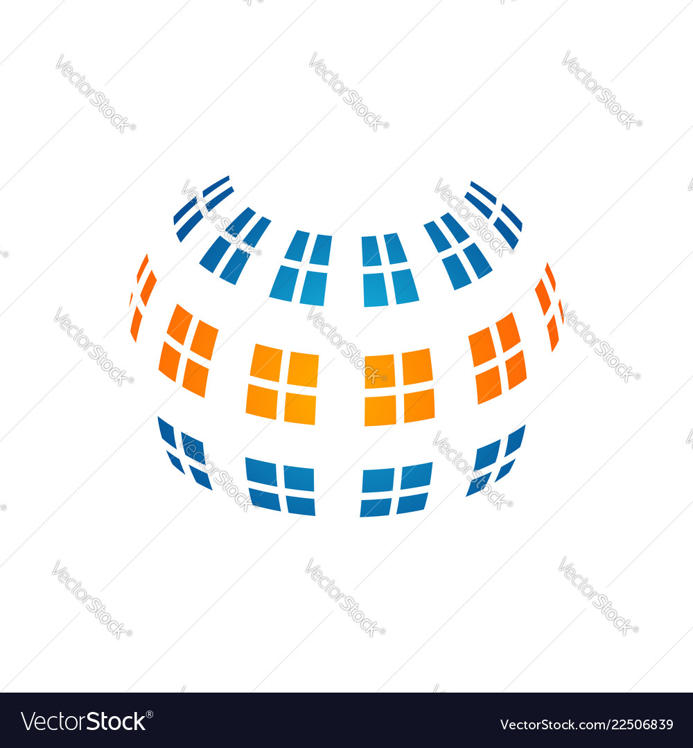 Glass service symbol layout windows and screens