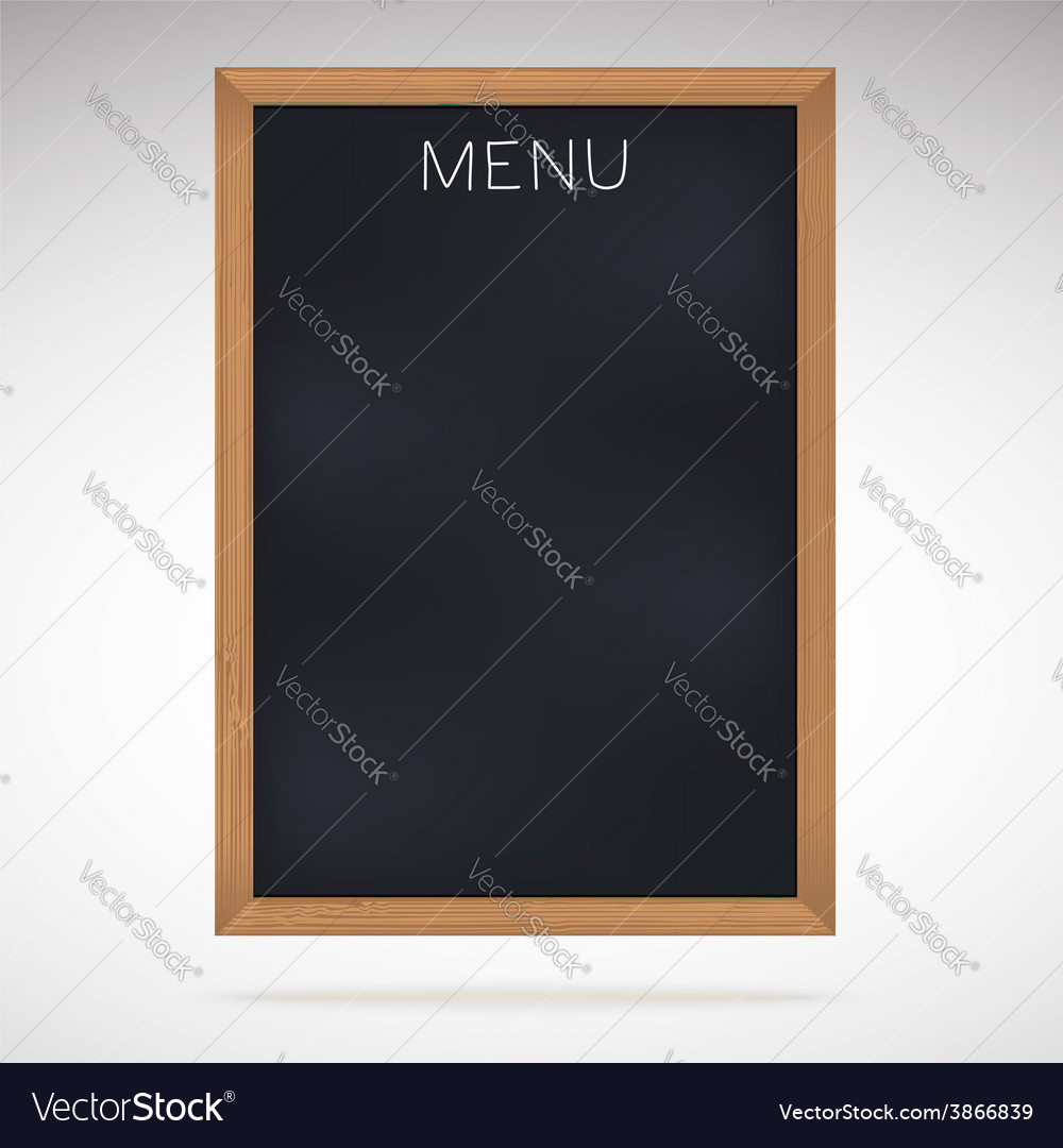 Menu blackboards or chalkboards