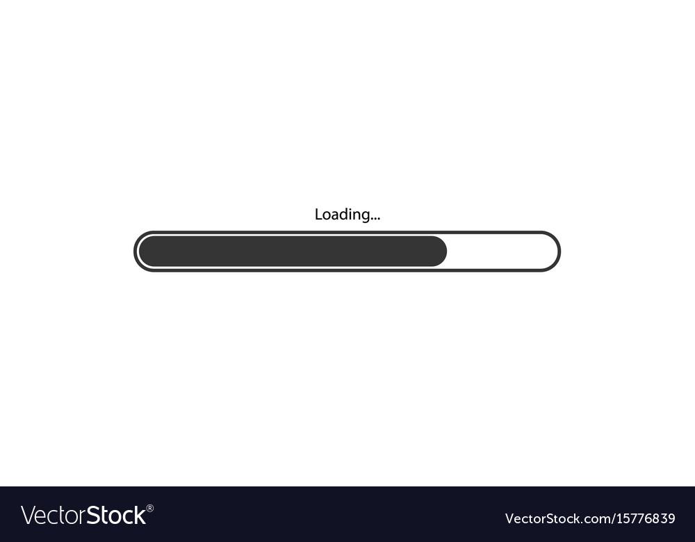 Modern black loading bar on white