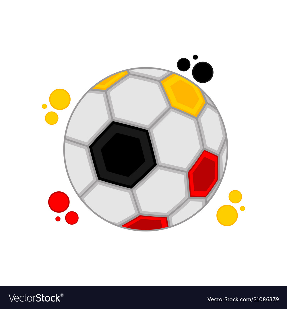 Soccer ball with the colors of germany