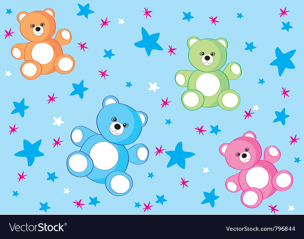 Bear background vector image
