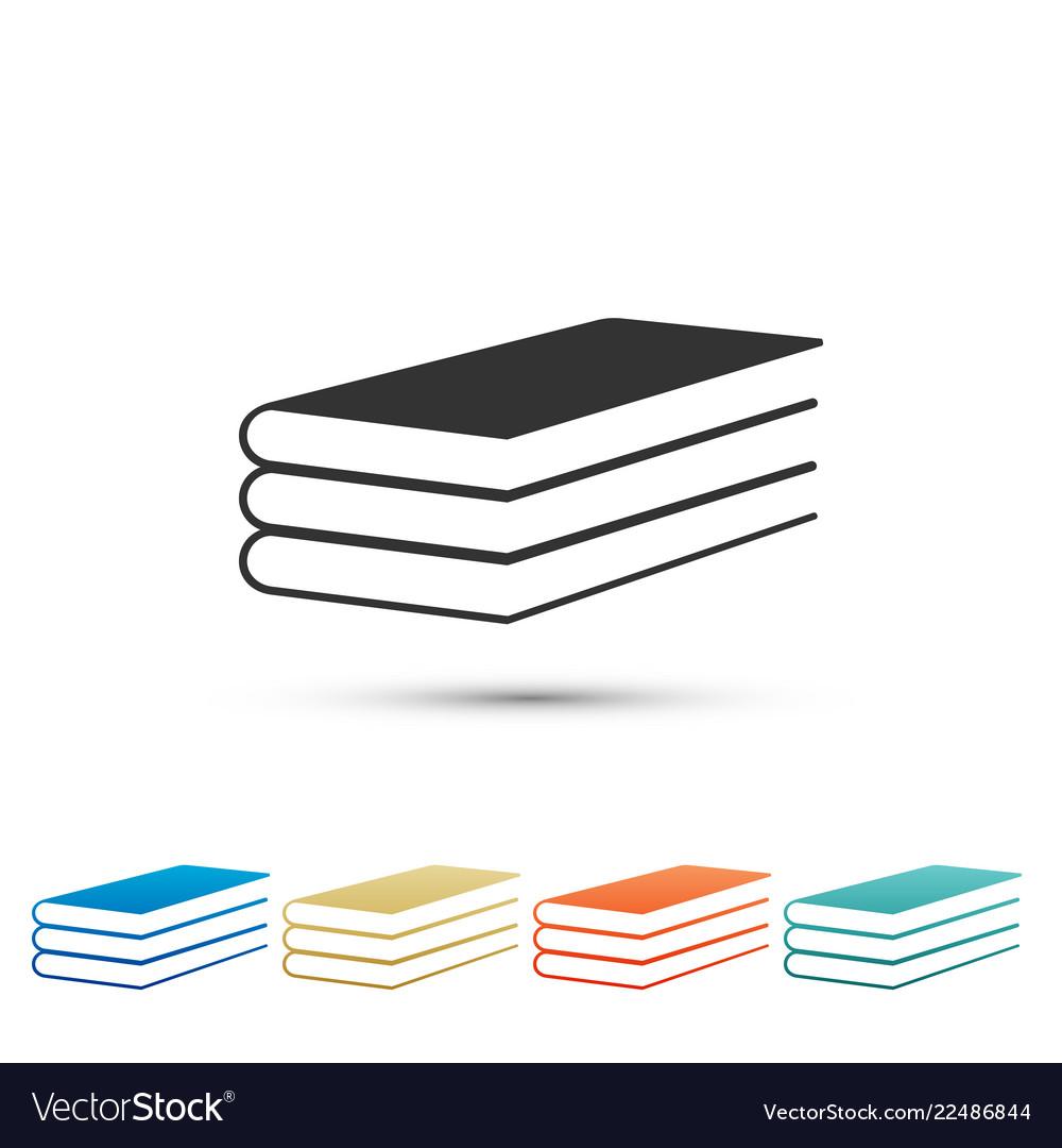Books icon isolated on white background