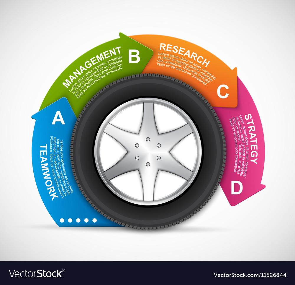 Car Wheel Infographic Design Template