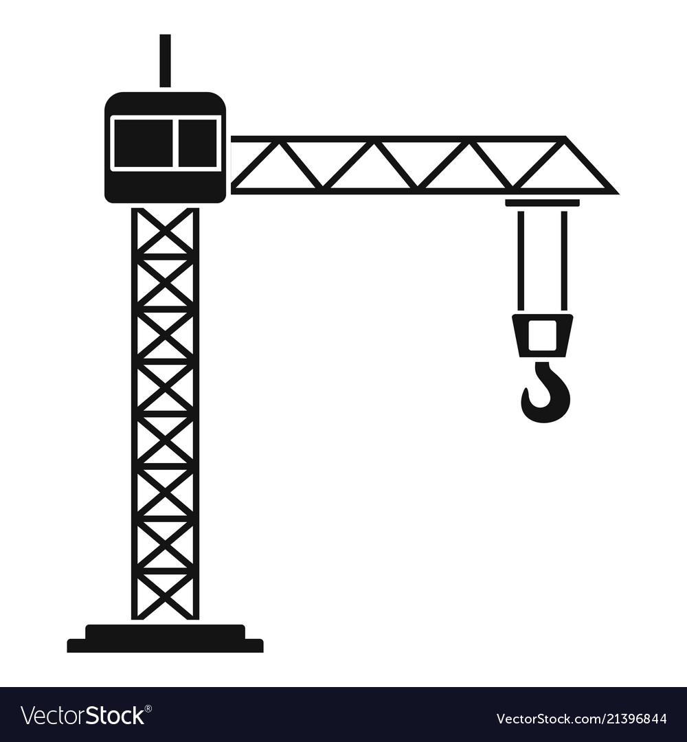 Construction crane icon simple style