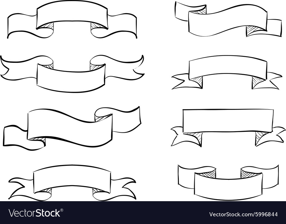 hand drawn banner scribble vintage scroll vector image rh vectorstock com vector scroll free vector scroll banner