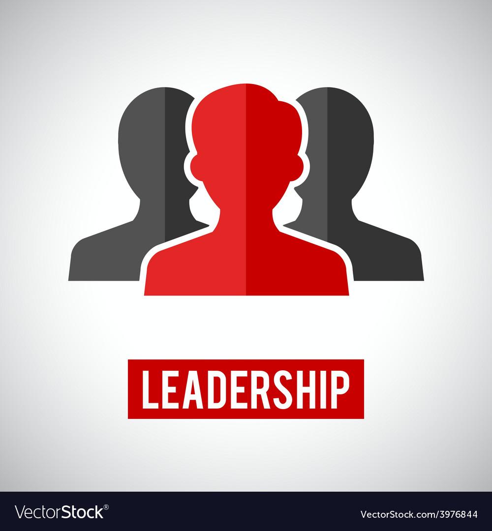 Leadership Icon Royalty Free Vector Image Vectorstock