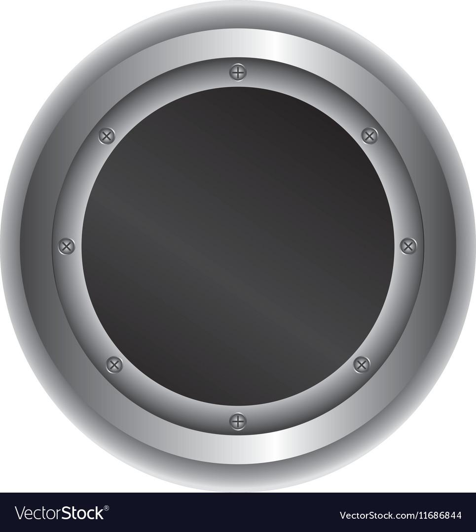 Metallic emblem isolated icon