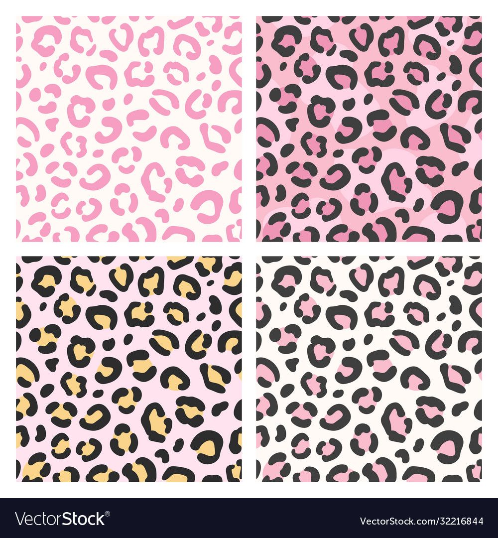 Pink leopard pattern seamless animal print