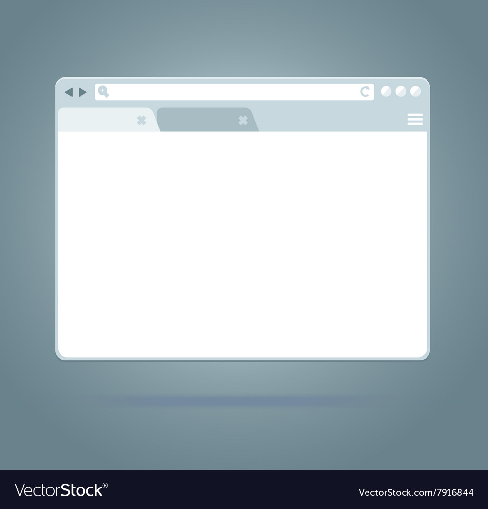 Simple Browser Window vector image