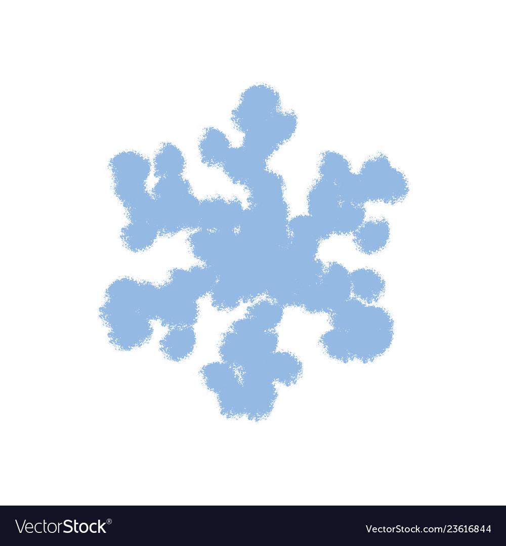 Simple grunge snowflake