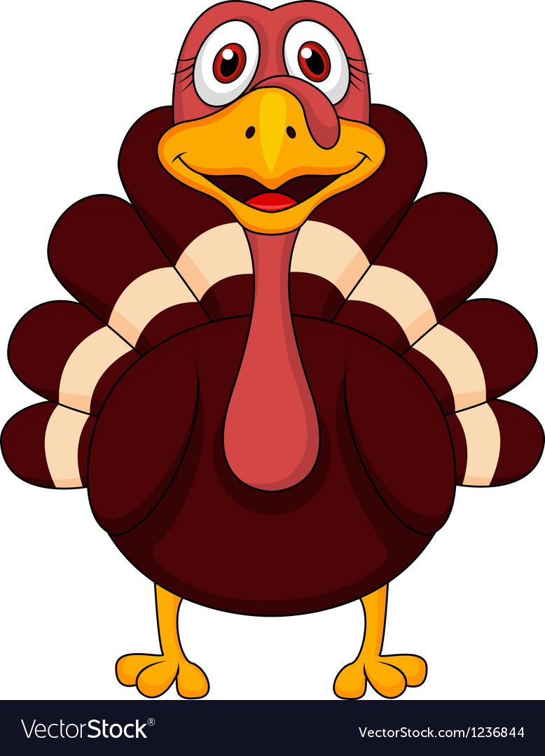 turkey cartoon royalty free vector image vectorstock rh vectorstock com pictures of cartoon turkeys for thanksgiving free pictures of cartoon turkeys