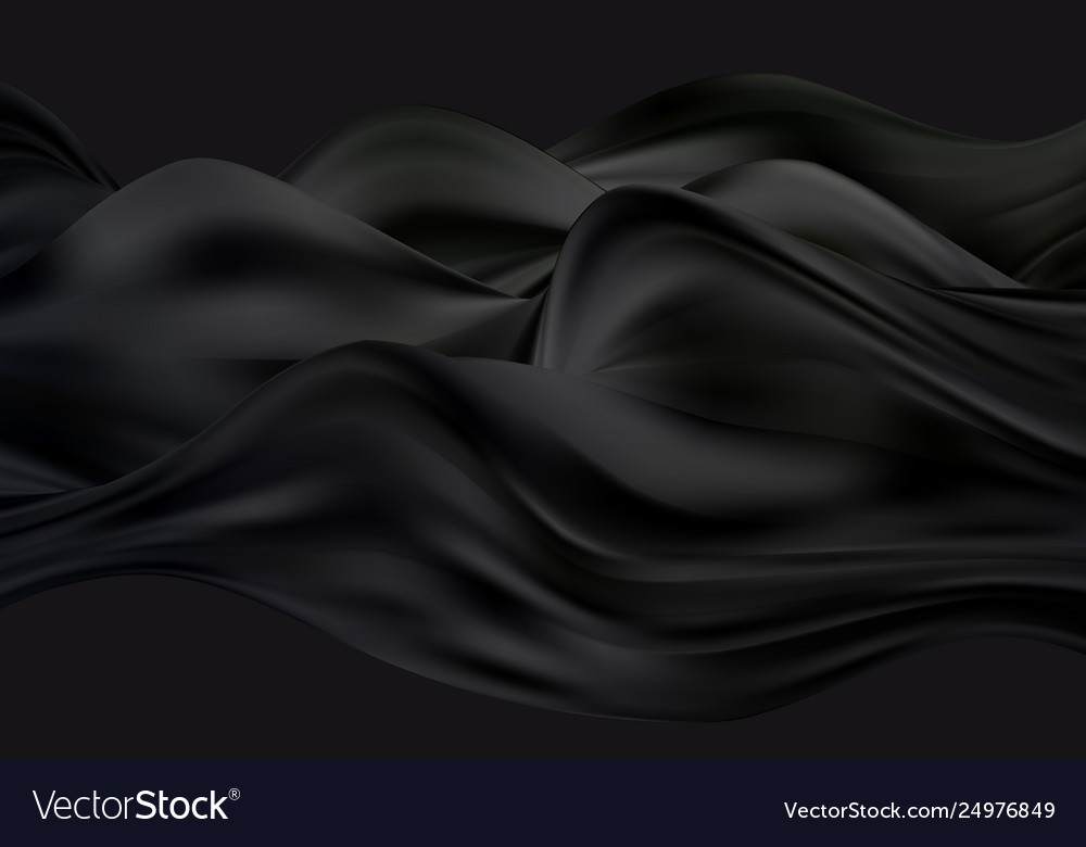 Abstract smooth black color wavy art