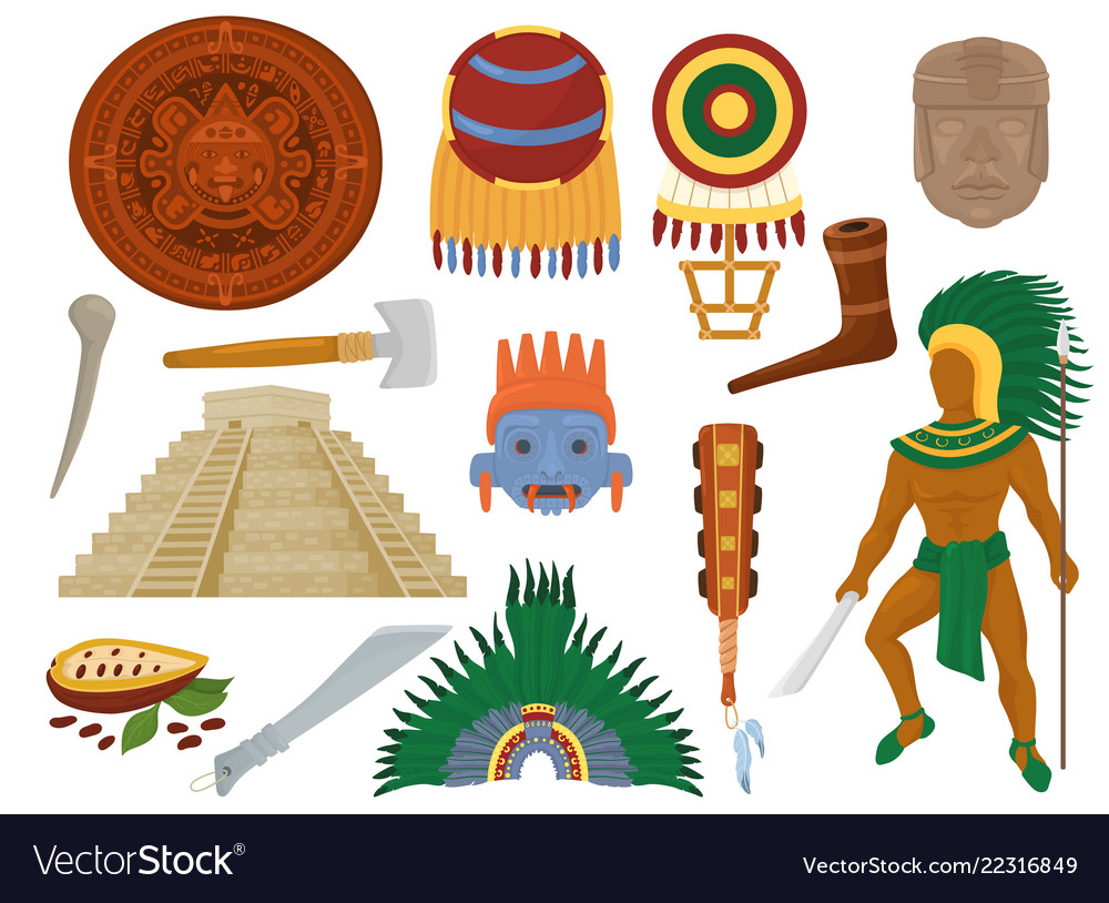 Aztec mexican ancient culture in mexico and
