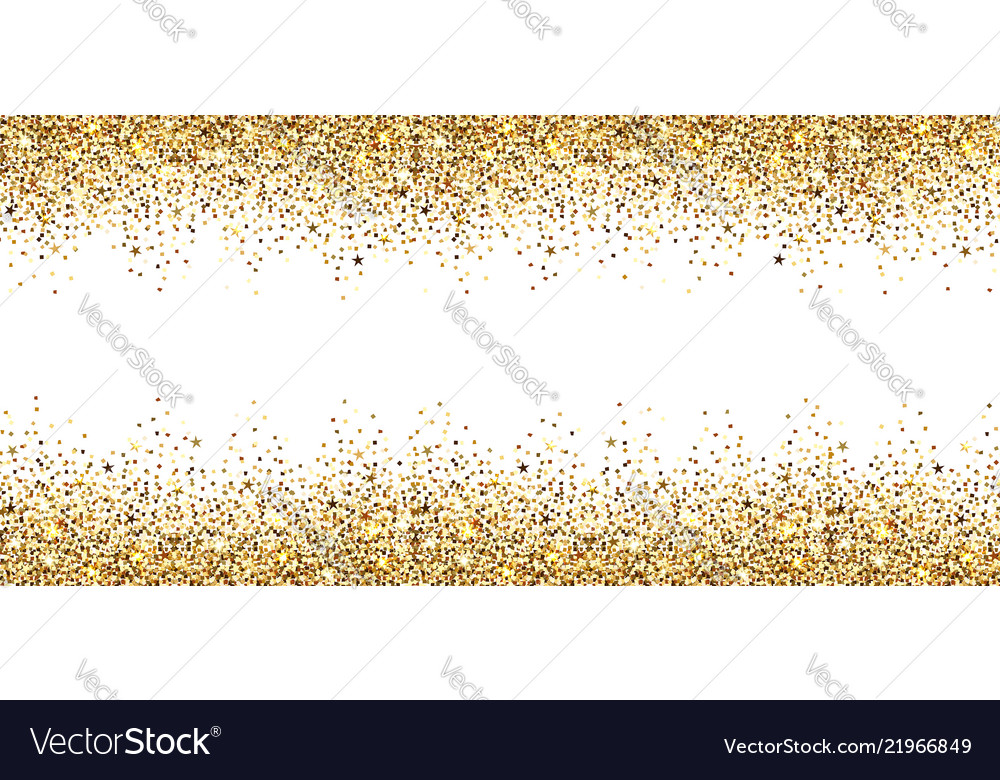 Banner with gold sparkles