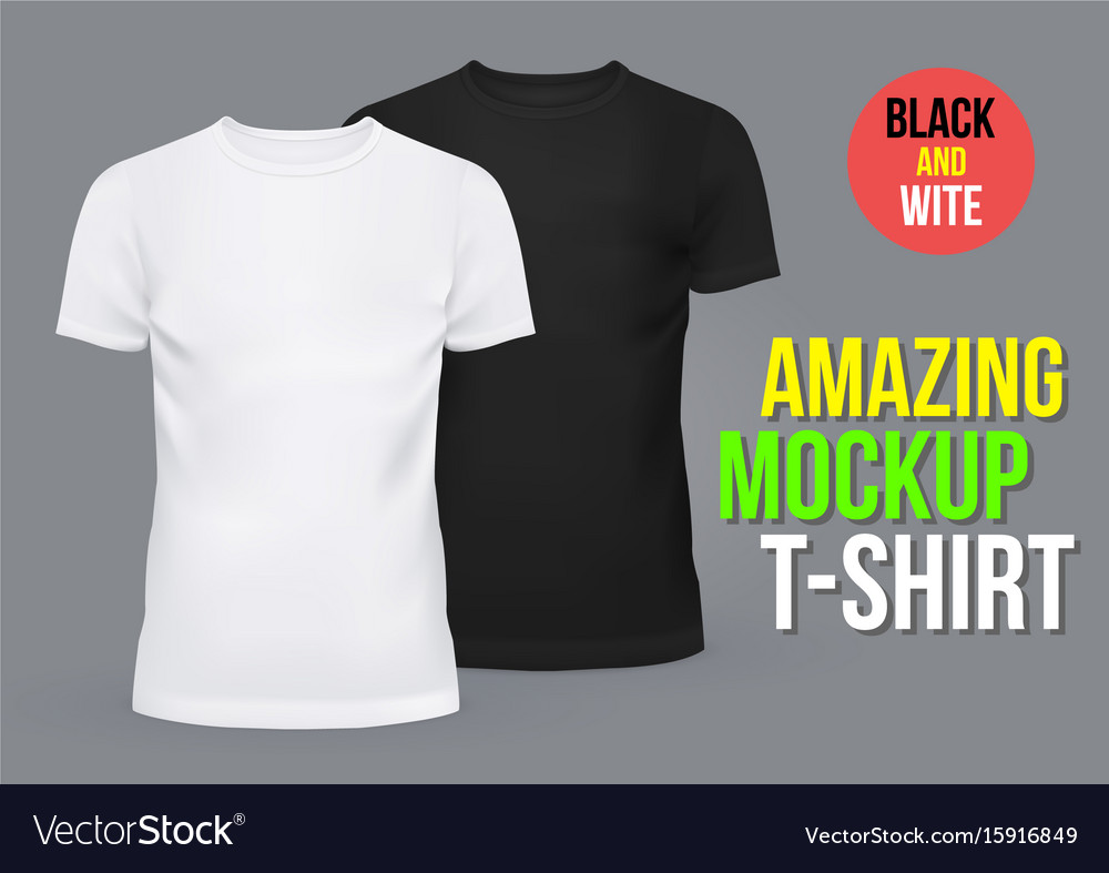 53377df84d Blank or empty t-shirts for men and women Vector Image