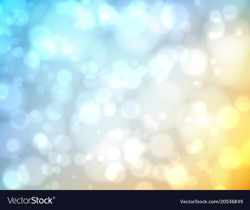 Bokeh blurred background