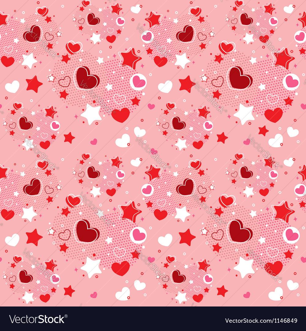 Cute Valentine seamless pattern