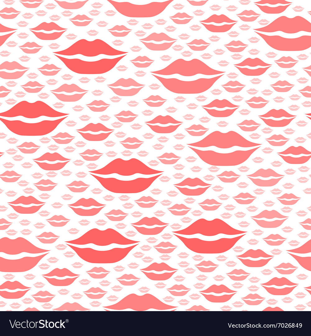 Heart kiss pattern red
