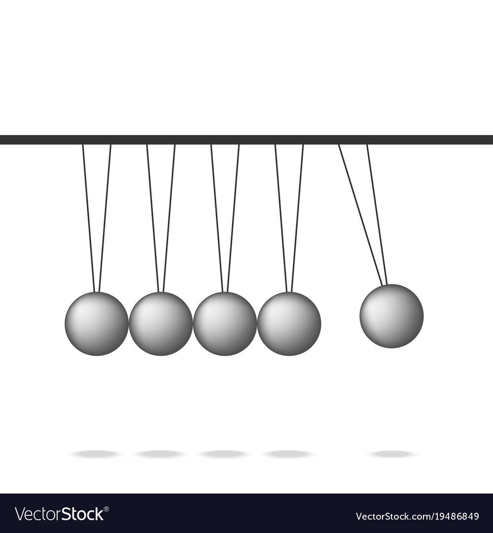 newton cradle pendulum ball leadership work vector image