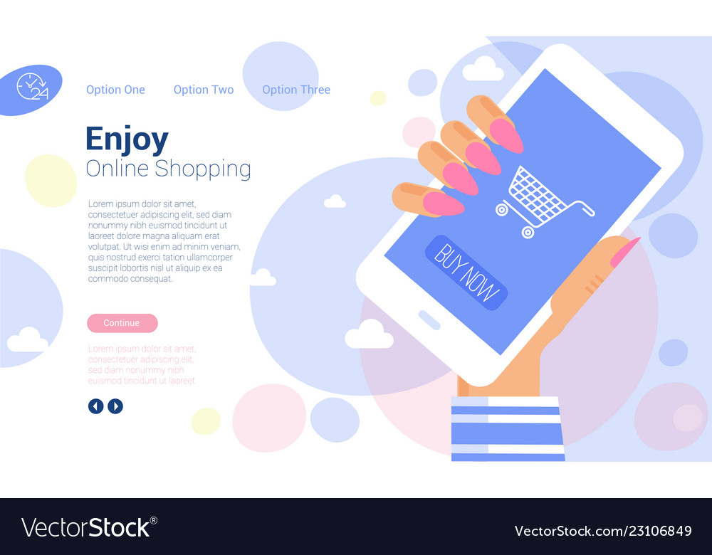 Online internet and mobile shopping