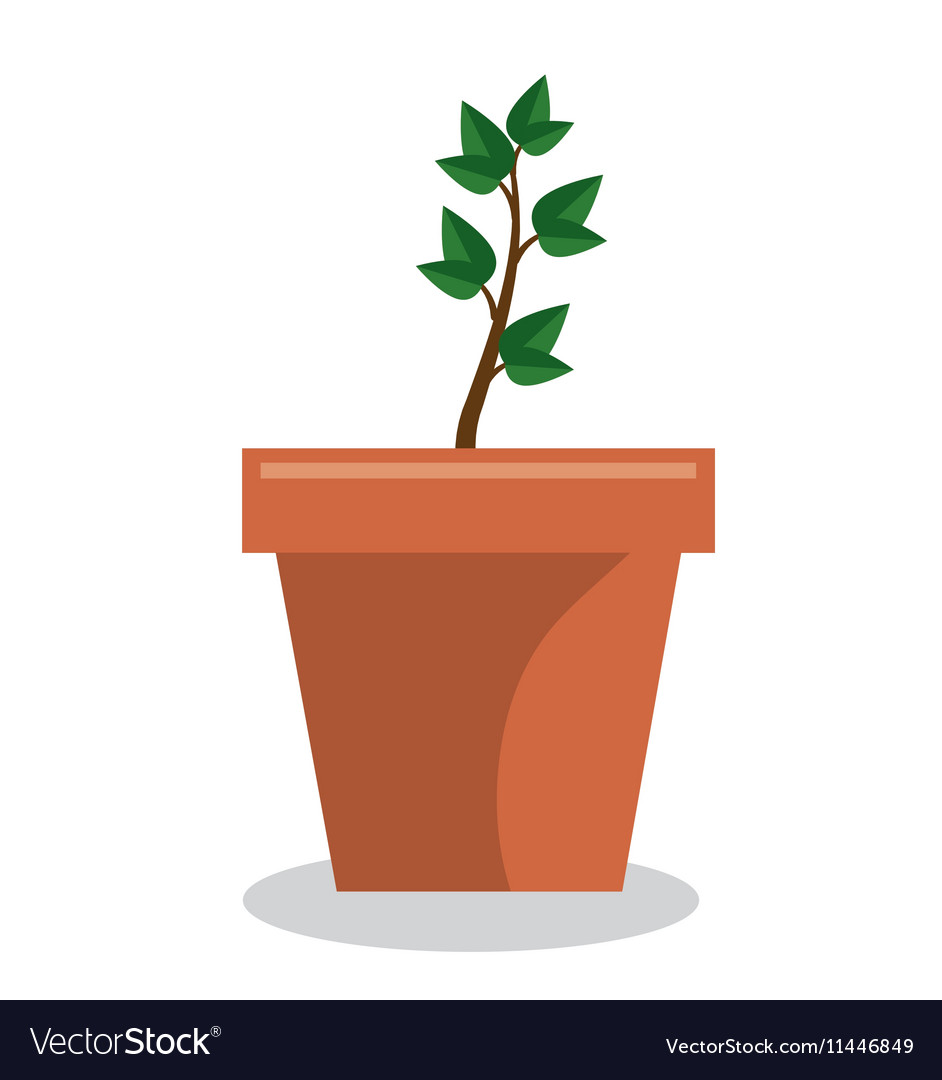 Plant pot garden isolated icon