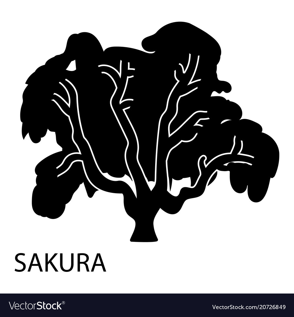 Sakura icon simple style